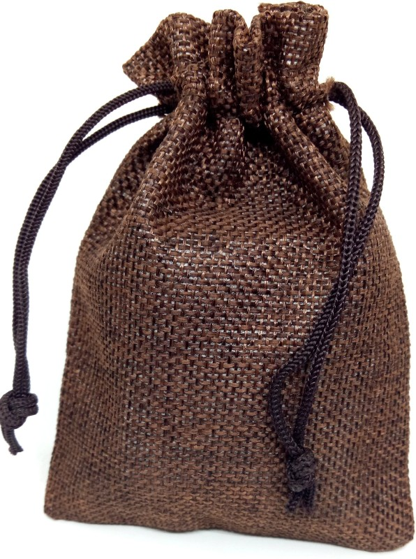 Aadya Crafts Jute Pouch Potli(Brown)