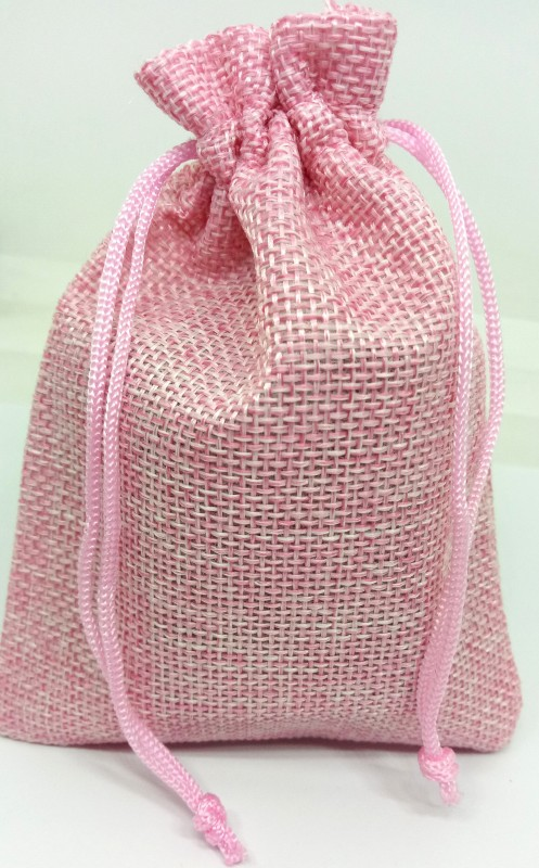 Aadya Crafts Jute Pouch Potli(Pink)