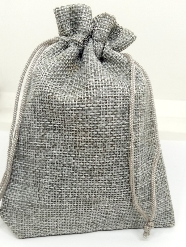 Aadya Crafts Jute Pouch Potli(Grey)