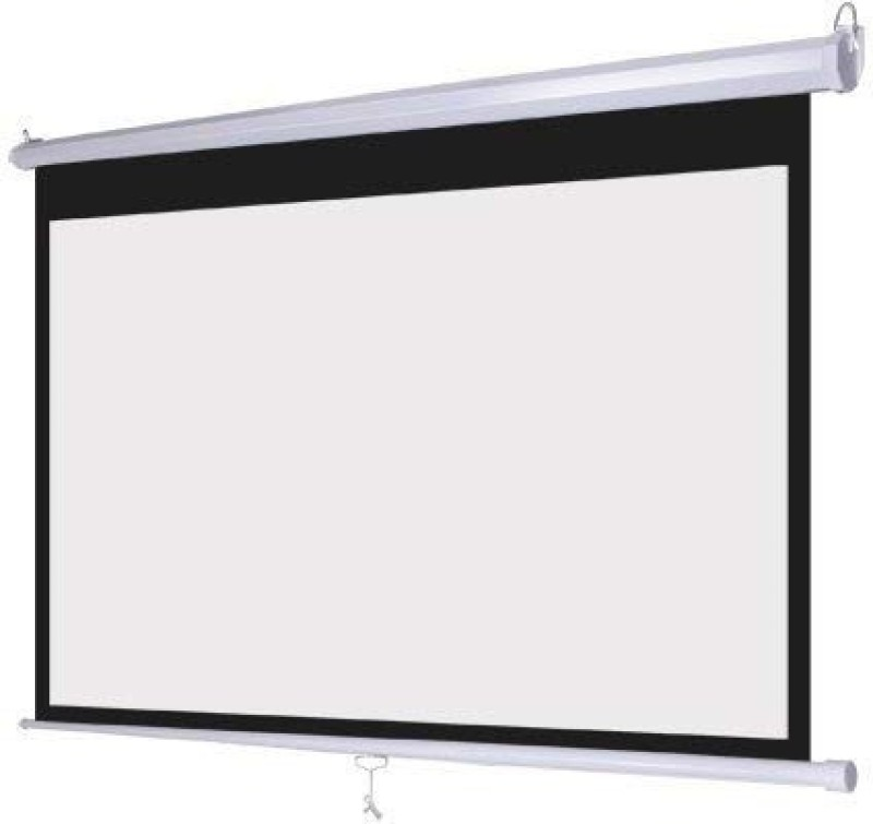 Gadget-Wagon 6 x4 feet 84 inch auto lock manual white projectpr screen wall mountable Projector Screen (Width 180 cm x 122 cm Height)