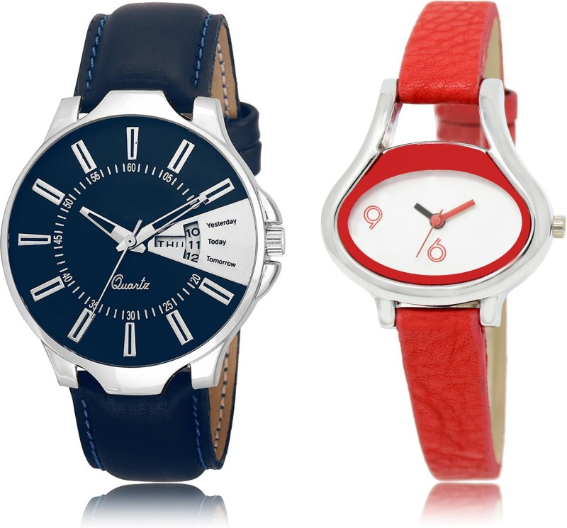 """FASHION POOL NEW ARRIVAL FAST SELLING ROUND ANALOGUE DIAL """" MULTI COLOR """" COMBO WATCH METAL & LEATHER BELT NEW ARRIVAL FAST SELLING TRACK DESIGNER WATCH FOR FESTIVAL_PARTY_PROFESSIONAL_VALENTINE_BIRTHDAY GIFT SPECIAL COMBO WATCH FOR MEN_WOMEN Analog Watch - For Couple"""