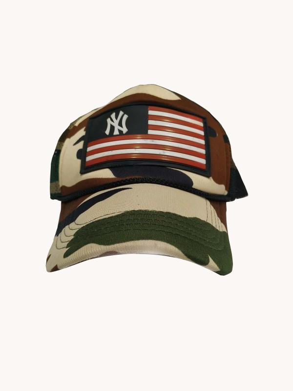 BOLAX Embellished USA Logo Military Netted Baseball Cap Cap