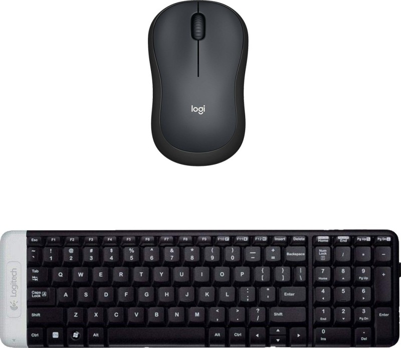 Logitech Multimedia Keyboard (English)-K230-Black-Wireless Mouse-M221_Black Combo Set