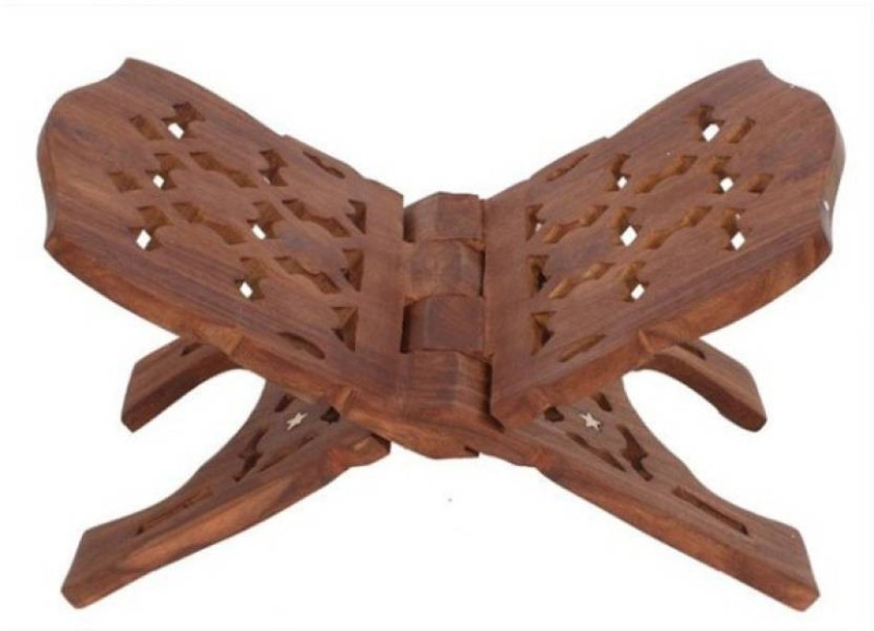 Azeem Arts Rehal 13 inch Wooden Brown Rehal(Width (Open) = 29 : Height (Open) = 18)