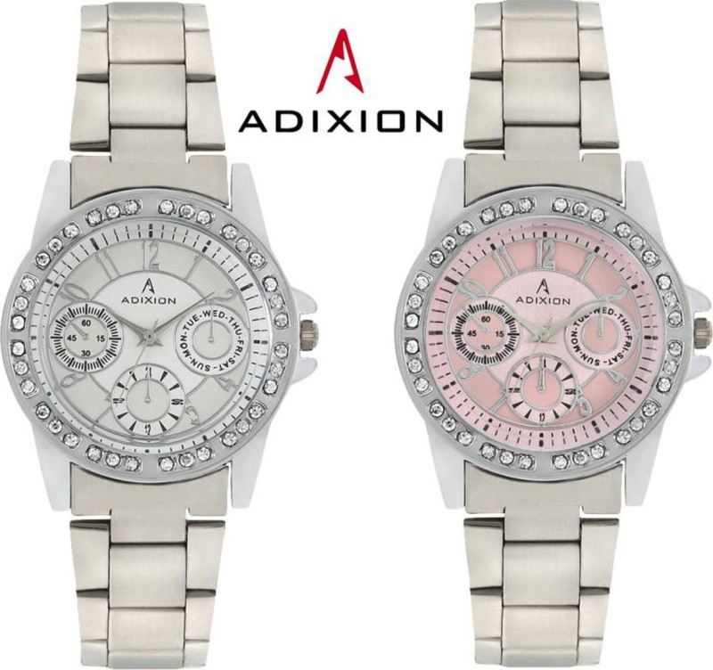 ADIXION 9401SM0206 New Chronograph Pattern Stainless Steel Analog Watch - For Women