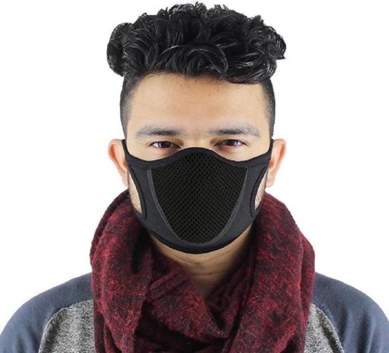 Mockhe Black Bike Face Mask for Men & Women(Size: Free, Balaclava)