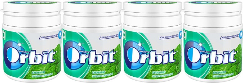 Orbit Chewing Gum Tube, 66g (pack of 4) Spearmint Chewing Gum(4 x 66 g)
