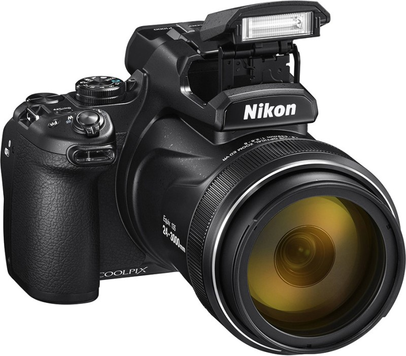 Nikon COOL PIX P1000 COOLPIX P1000 16 MP 125X 3000 mm optical zoom DSLR Camera Compact Digital Camera(Black)