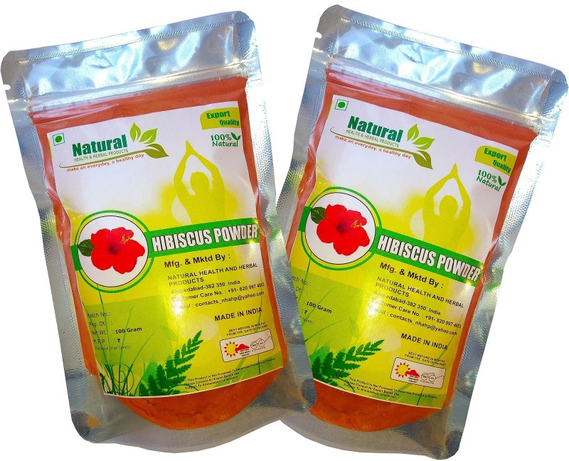 Natural Health and Herbal Products Hibiscus Flower Powder For Hair Growth(200 g)
