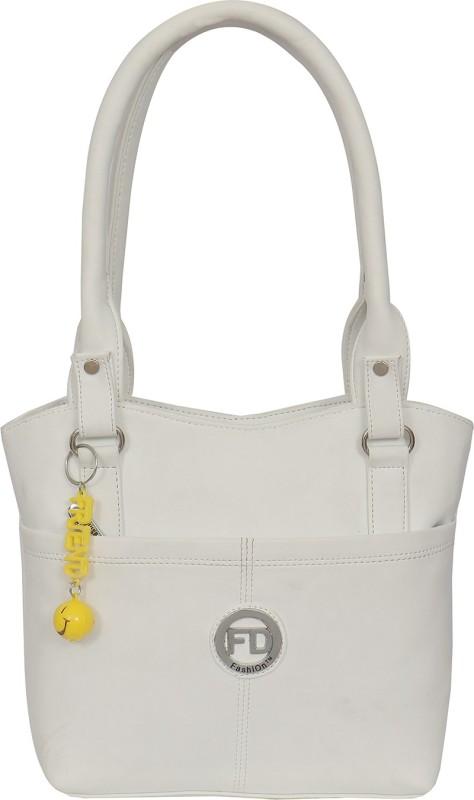 FD Fashion Soft Luggage Women White Shoulder Bag