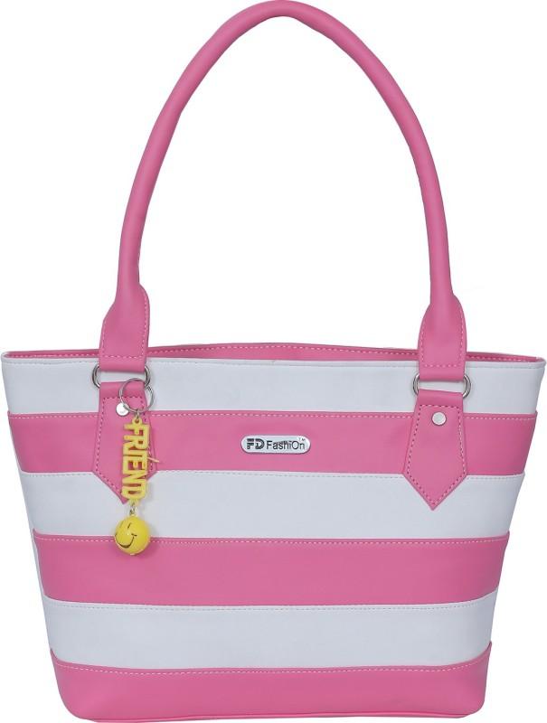 FD Fashion Soft Luggage Women White, Pink Shoulder Bag