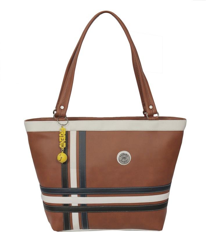 FD Fashion Soft Luggage Women Tan Shoulder Bag