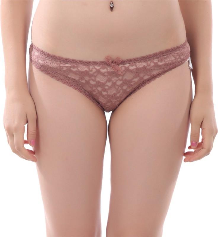 Tace Women Bikini Brown Panty(Pack of 1)