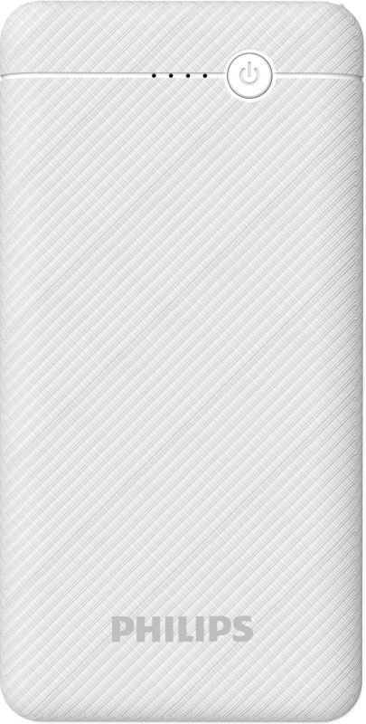PHILIPS 10000 mAh Power Bank (10 W, Fast Charging)(White, Lithium Polymer)