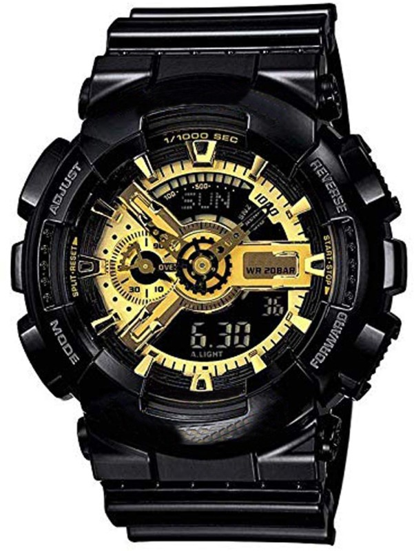 Xotak 557_sports watch Analogue - Digital Multi-Functional Stainless Steel Dual Time Outdoor Golden Dial Sports Watches for Mens and Boys Analog-Digital Watch - For Men