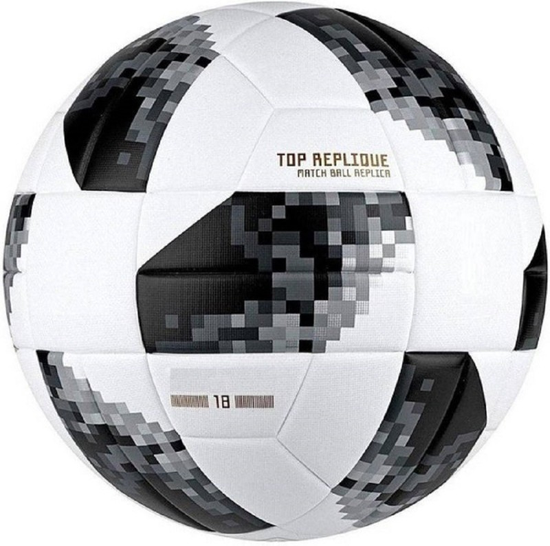 Fox Russia Cup 2018 White/Black Football - Size: 5(Pack of 1, White)