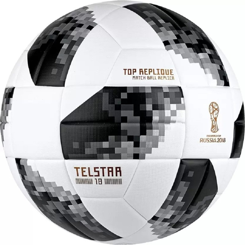 Fox Telstar Russia 2018 White/Black Football - Size: 5(Pack of 1, White)
