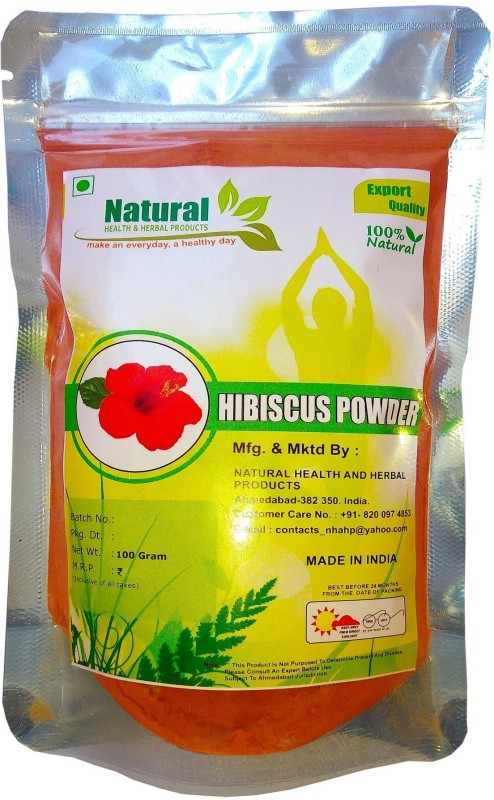 Natural Health and Herbal Products Hibiscus Flower Powder For Hair Growth(100 g)