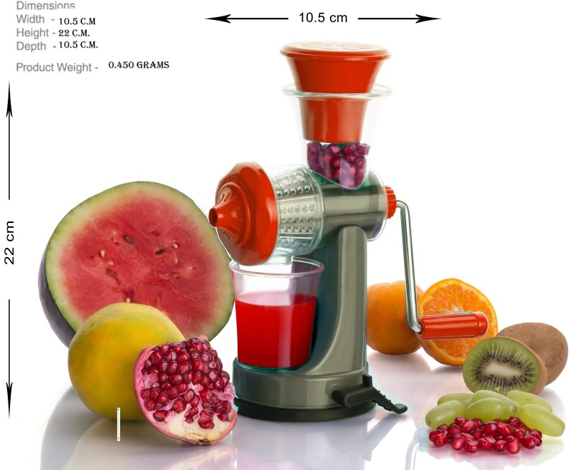Vittamix White & Maroon Fruit Hand Juicer Plastic Hand Juicer(Multicolor Pack of 1)