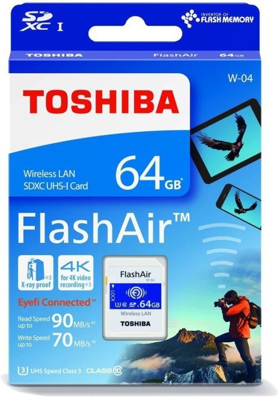 Toshiba WIFI 64 GB SD Card Class 10 90 MB/s Memory Card