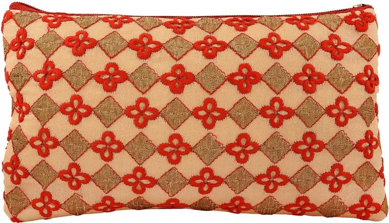 MissMister Cotton Velvet Ethnic Clutch Pouch Purse Women traditional Pouch(Red)