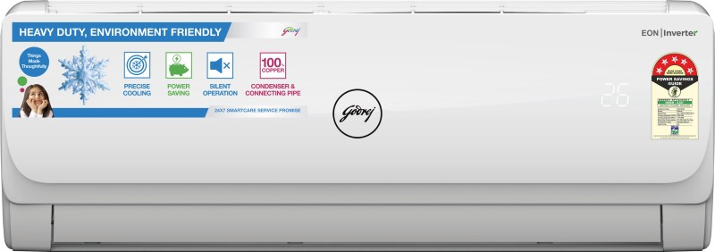 Godrej 1 Ton 5 Star Split Inverter AC - White(AC 1T GIC 12GTC5-WSA_MPS, Copper Condenser)