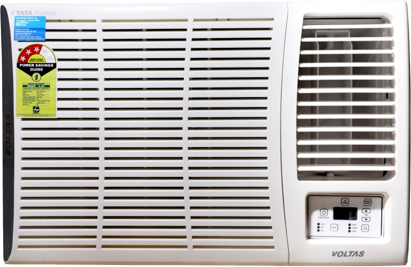 Voltas 1.5 Ton 3 Star Window AC - White(WAC 183 DZA, Copper Condenser)