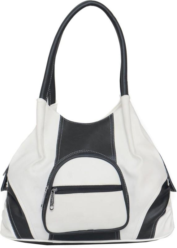 FD Fashion Soft Luggage Women White, Black Shoulder Bag