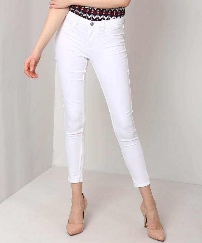 Flying Machine Slim Women White Jeans