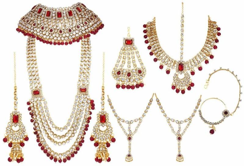 CATALYST Brass Jewel Set(Gold, Red)