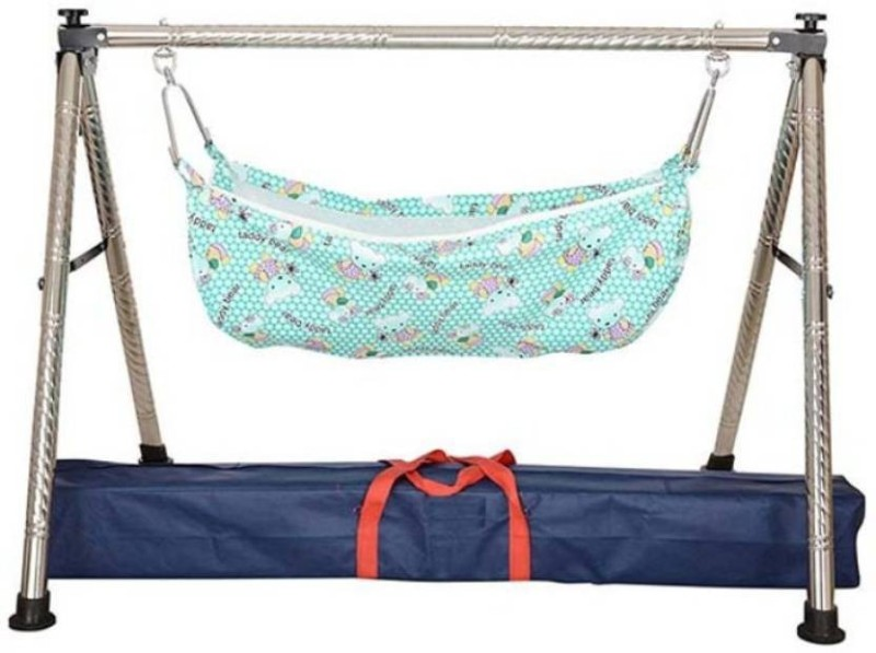 Future market Stainless Steel Ghodiyu (Baby Cradle) with Net(Silver)