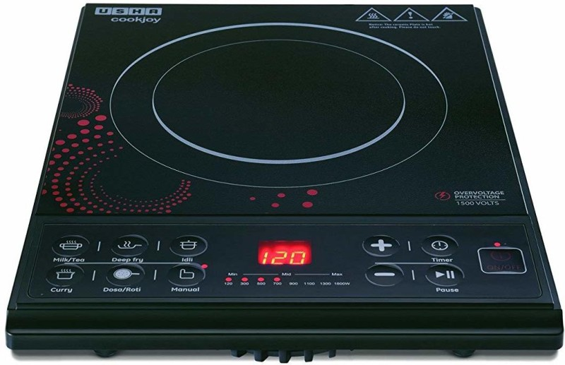 Usha Cook Joy - 3616 -1600W Induction Cooktop(Black, Push Button)