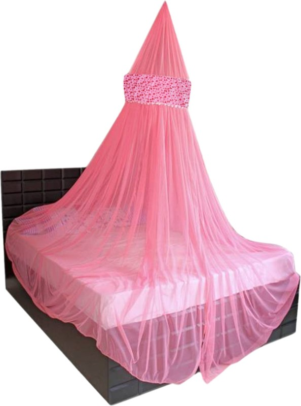 Creative Textiles Polyester Adults Double Bed/King Size Bed (ctammn-8419c) Mosquito Net(Pink)