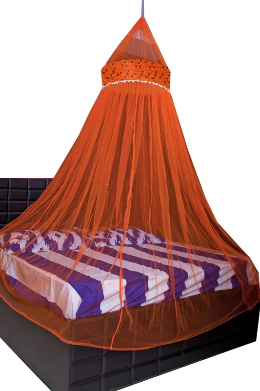 Creative Textiles Polyester Adults Double Bed/King Size Bed (ctammn-8419q) Mosquito Net(Orange)