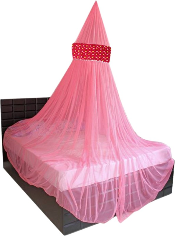 Creative Textiles Polyester Adults Double Bed/King Size Bed (ctammn-8419n) Mosquito Net(Pink)