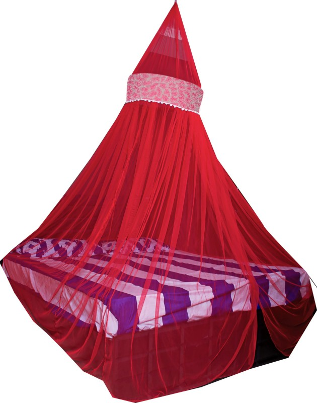 Creative Textiles Polyester Adults Double Bed/King Size Bed (ctammn-8419g) Mosquito Net(Red)