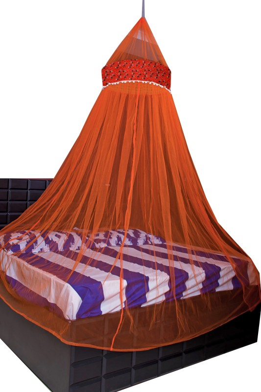 Creative Textiles Polyester Adults Double Bed/King Size Bed (ctammn-8419i) Mosquito Net(Orange)