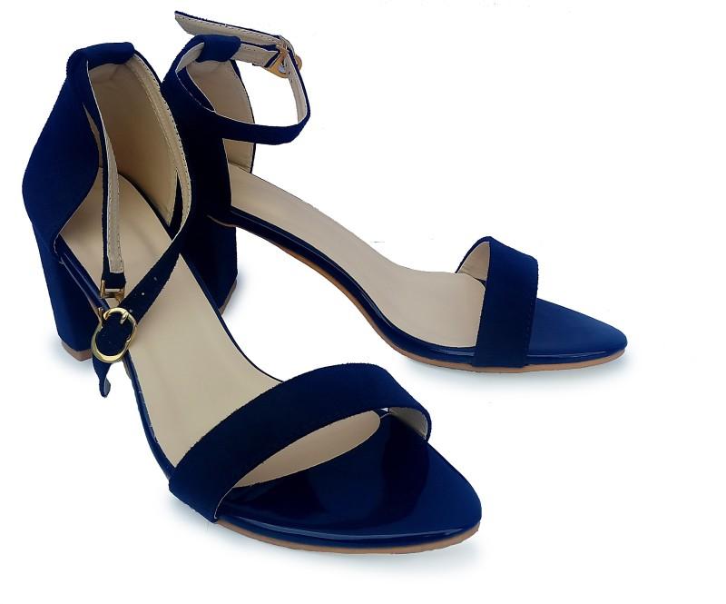 Liproo Women Navy, Blue Heels- Buy