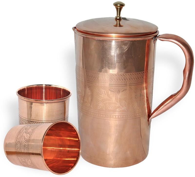 Qubic Inc B01HTEHUWA1 Jug Glass Set(Copper)