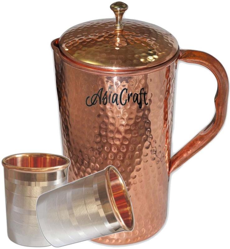 Asia Craft Jug-006-Tmbler001-2 Jug Glass Set(Copper)