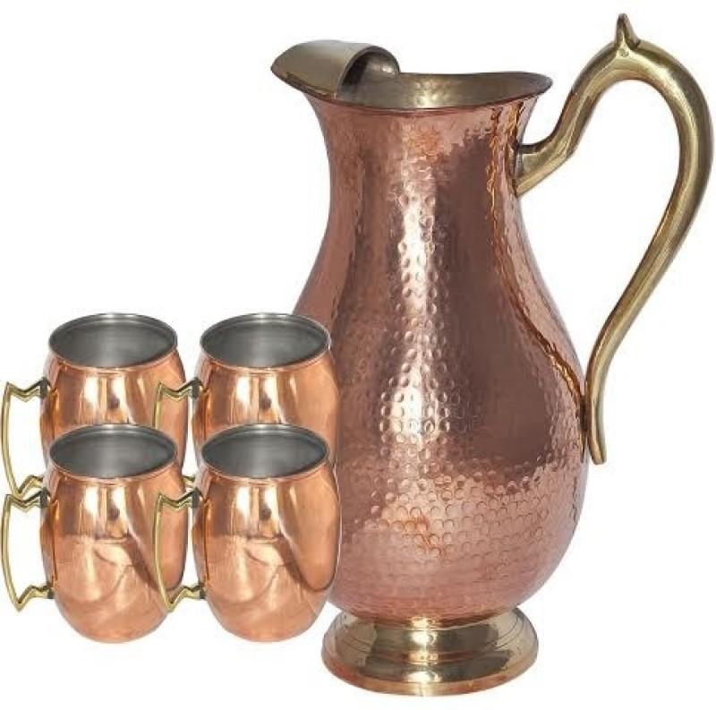 Asia Craft Jug-005-Mug002-4 Jug Glass Set(Copper)