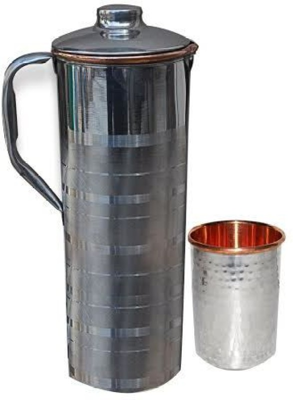 Asia Craft JUG003-TUMBLER008-1 Jug Glass Set(Stainless Steel)
