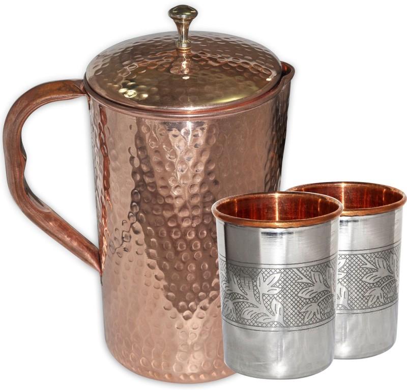 Asia Craft Jug-006-Tumbler007-2 Jug Glass Set(Copper)