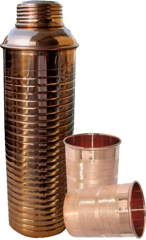 Asia Craft CopperBOTTLE006-TUMBLER006-2 Jug Glass Set(Copper)