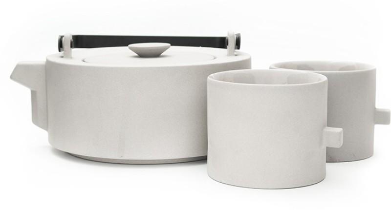 Teabox Ash Gray Set Kettle Jug Set(0.5 L, Pack of 3)