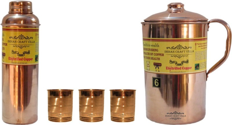 Indian Craft Villa Water Jug Set(3.7 L, Pack of 5)
