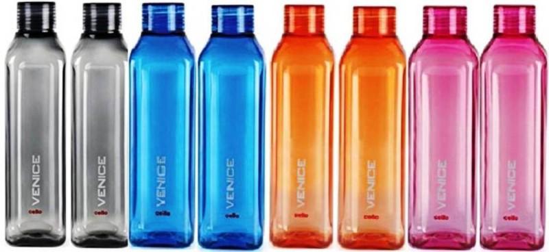 Cello VENICE MULTICOLOR (PACK OF 8) 1000 ml Bottle(Pack of 8, Multicolor)
