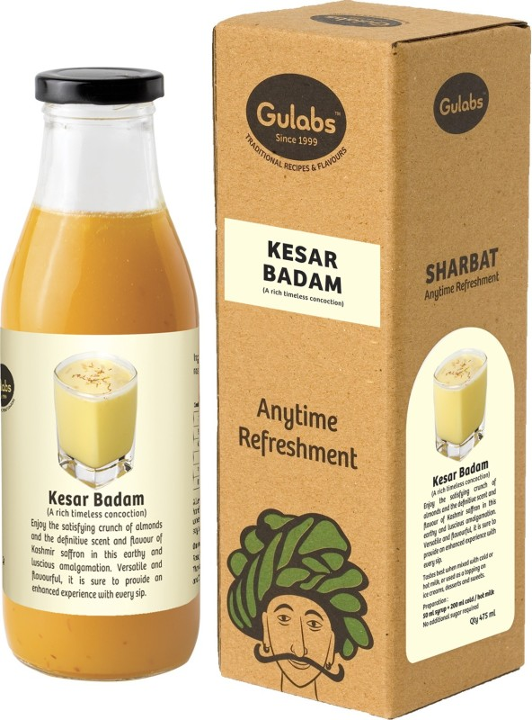 Gulabs Kesar Badam - Rich Saffron and Almond Concoction(475 ml)