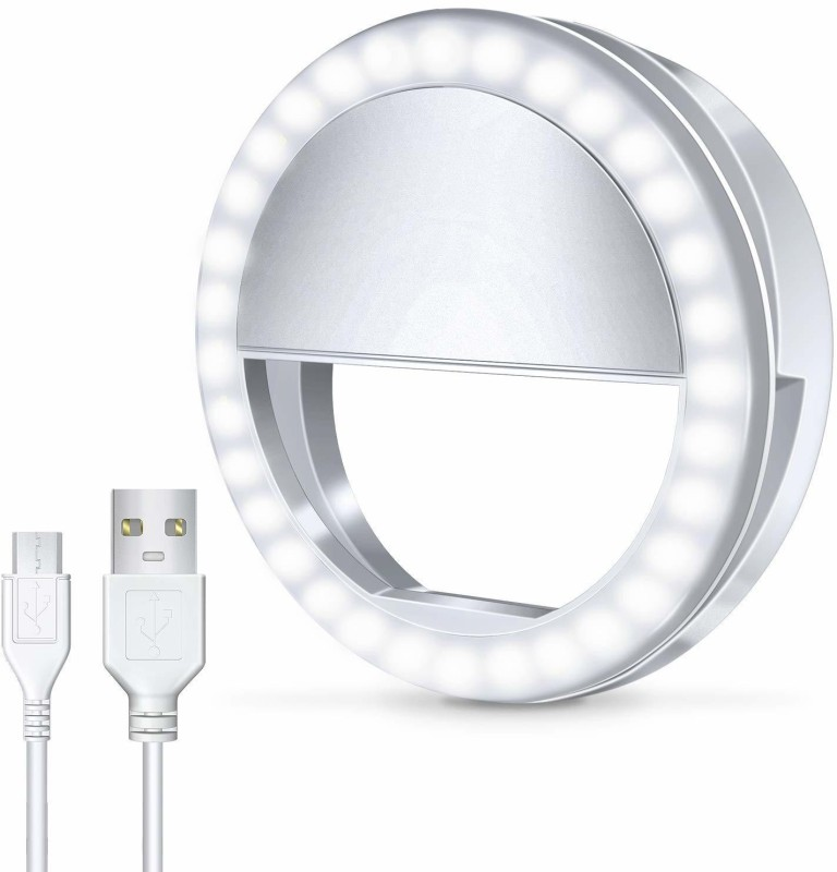 Buy Genuine Selfie Ring Light 36 LED Flash Light/Universal Accessories/Portable for Mobile Desktops Laptops Ring Flash(Multicolor)