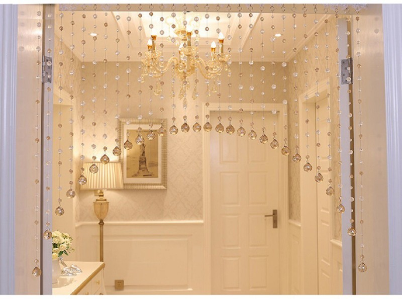 check MRP of crystal hanging curtains D4P 30 String Acrylic Crystal String Bead Hanging Curtain
